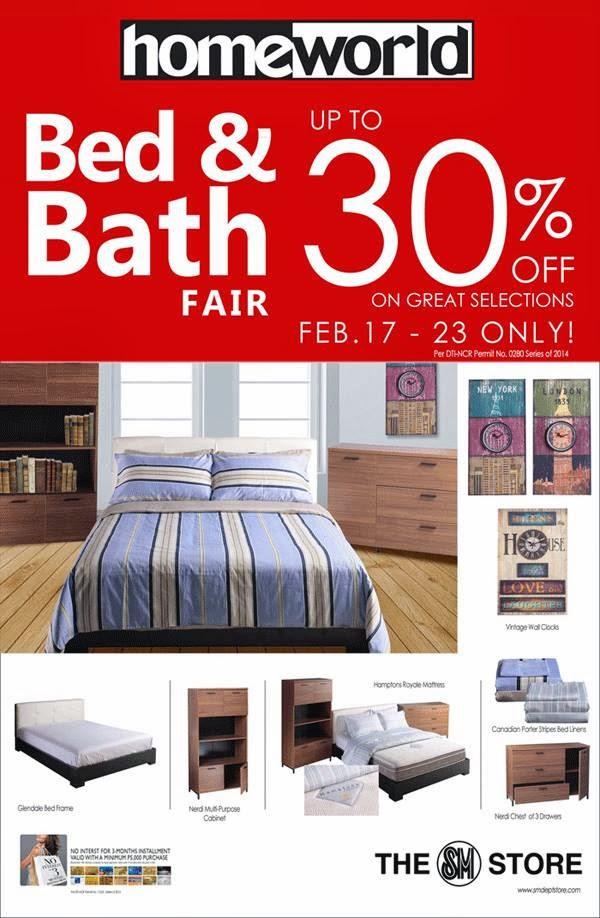 Manila Shopper Sm Homeworld Bed Bath Fair Feb 2014