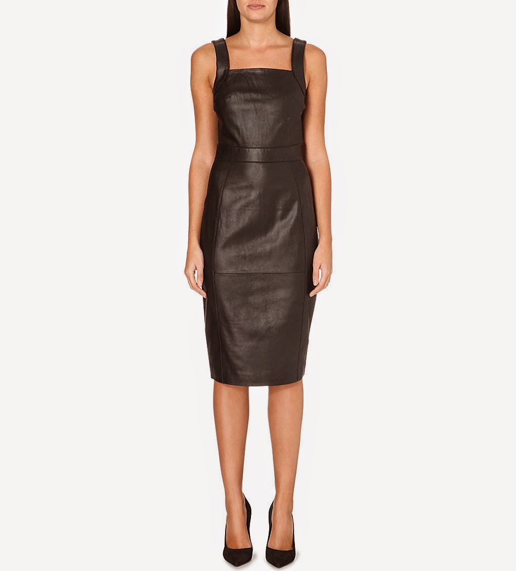 warehouse leather dress