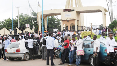 Image result for Ibadan Poly students protest against killing of colleague