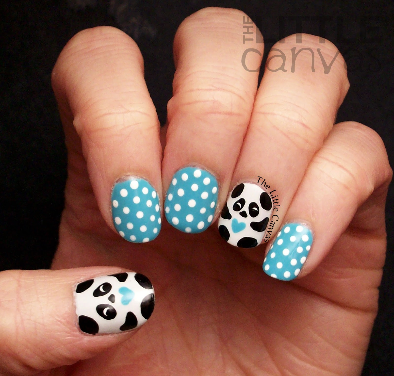 Panda nail art the little canvas lets take a look prinsesfo Images