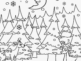Printable Woodland Animals Coloring Page