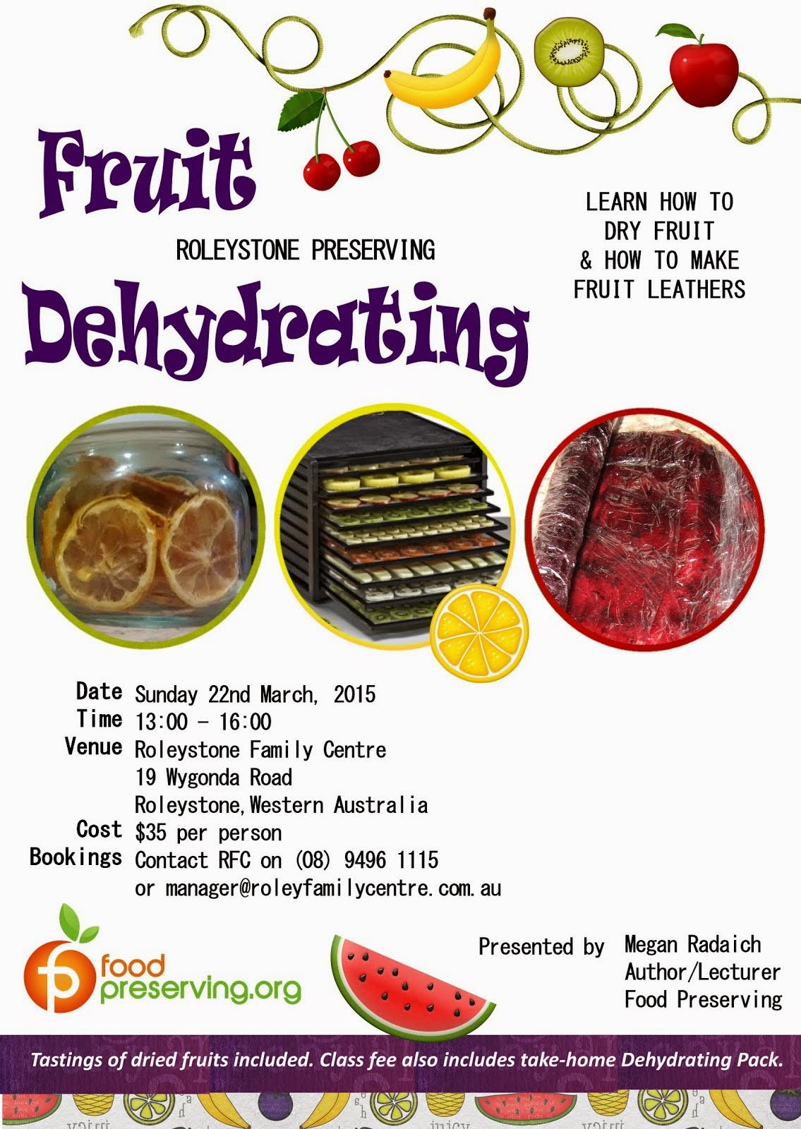 Mar 22 - Fruit Dehydrating Class