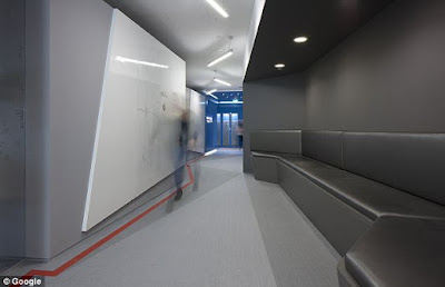 Google Office Futuristic Corridor