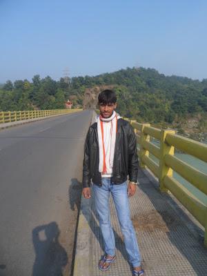 Anshu Dikshant at Rihand Dam, Renukoot