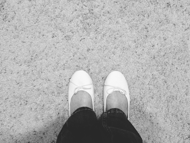 white flats from target shoes