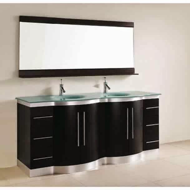 Meuble salle de bain noir meuble d coration maison - Configuration salle de bain ...