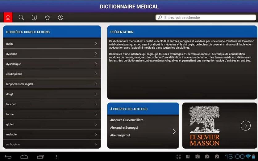 Définition termes médicaux
