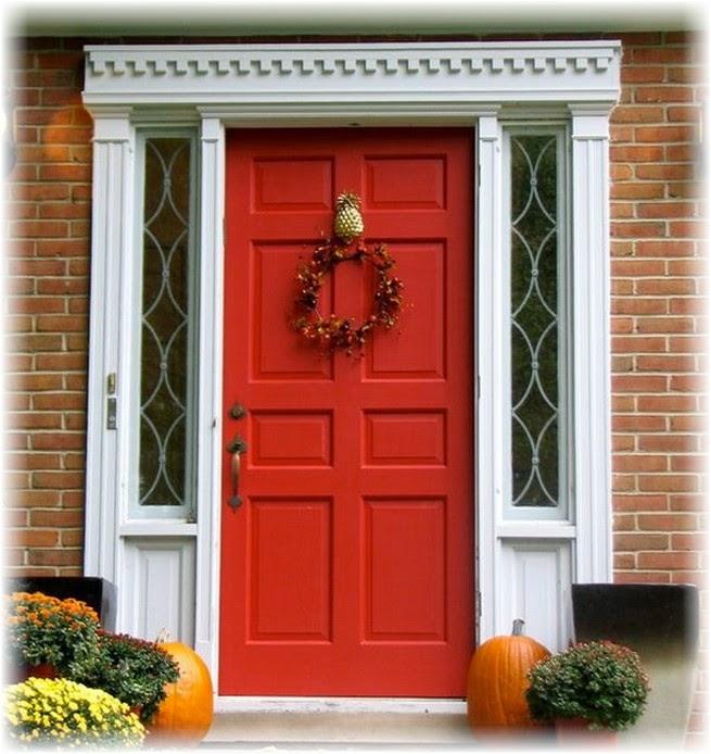 варианты декора входных дверей в дом
