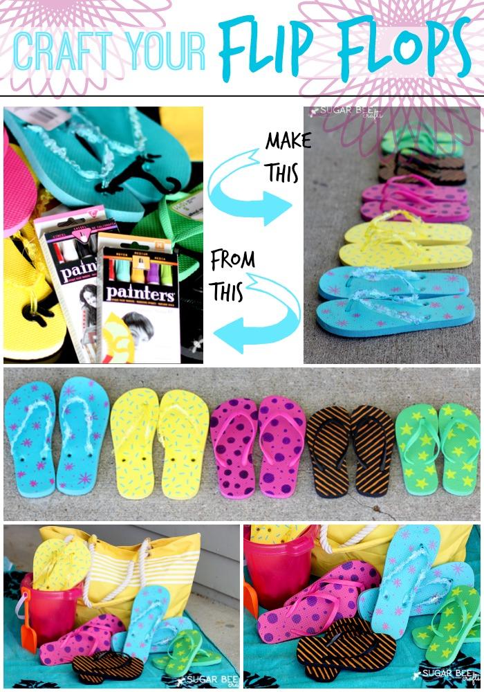 Craft your flip flops sugar bee crafts for Flip flops for crafts