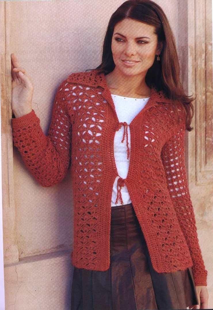 TEJIDOS CROCHET: saco tejido crochet