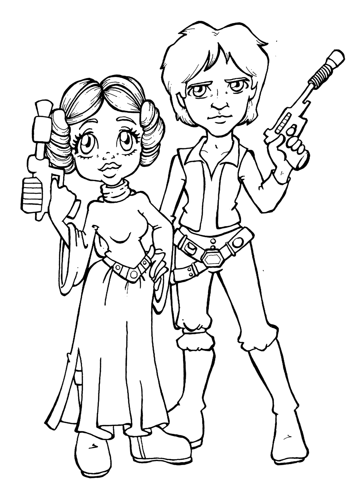 Free coloring pages of star wars princess leia