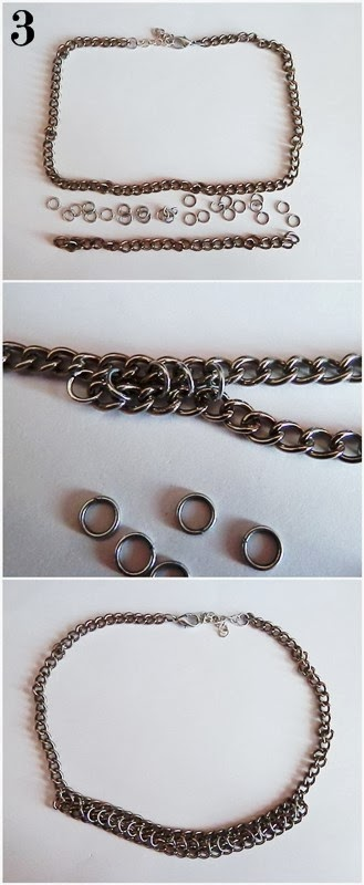 DIY collier multirangs