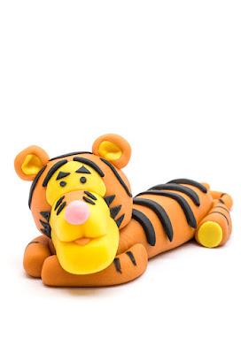 Winnie the Pooh Tigger fondant figurine front
