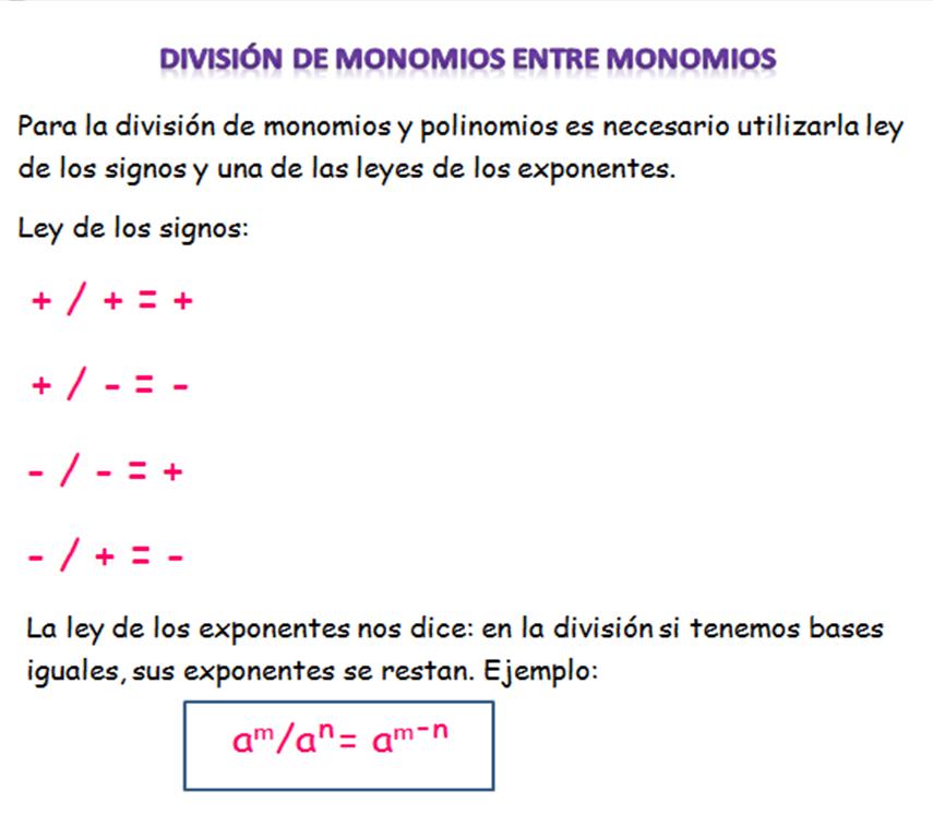 division de monomios yahoo dating