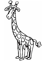 Giraffe Printable Coloring Pages