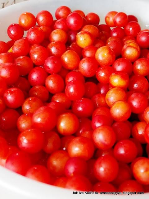 czerwone mirabelki , śliwki , dżem , domowe przetwory , moja spiżarnia , ze śliwek , extra gładki , bez skórek , bez pestek ,
