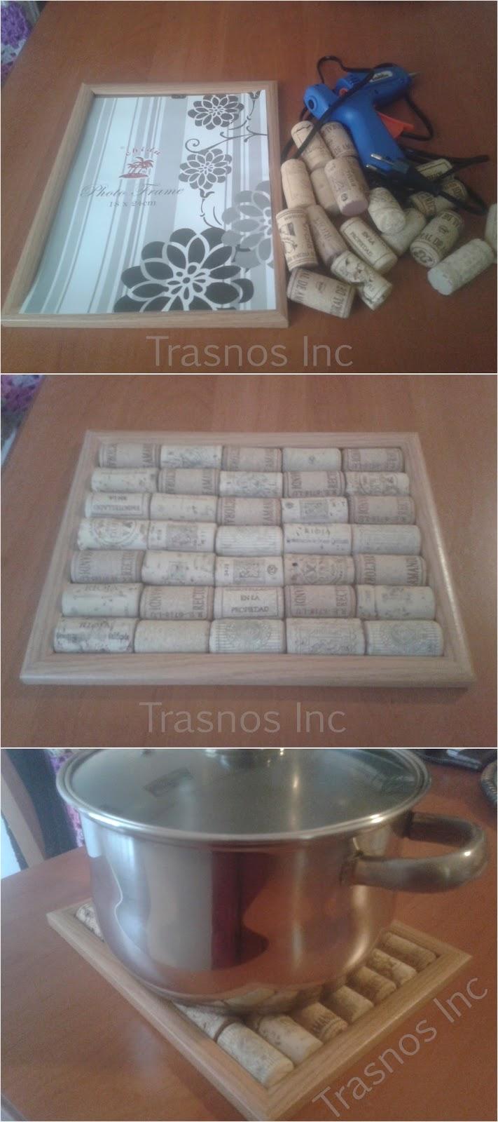 Trasnos Inc: Cómo hacer un salvamanteles de corchos de vino y un ...