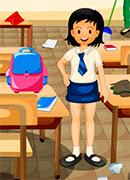 Уборка в классе - Онлайн игра для девочек