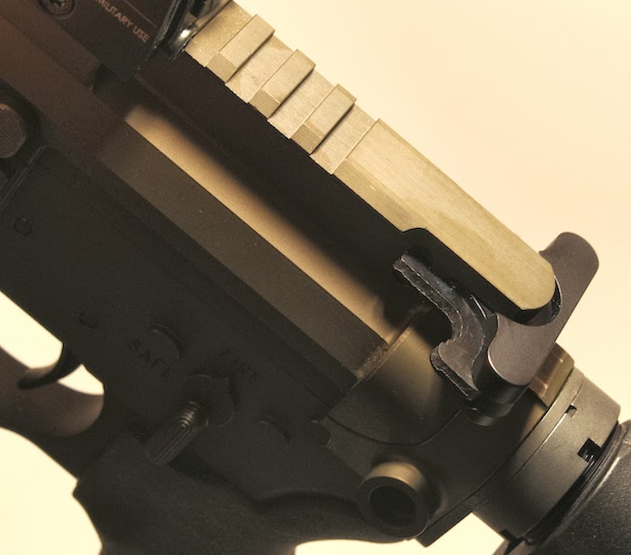 Upper rail, charging handle