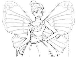 Barbie Fairy Princess Coloring Pages