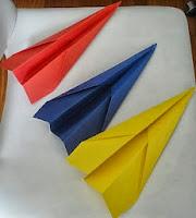 Los aviones de papel de los 80s