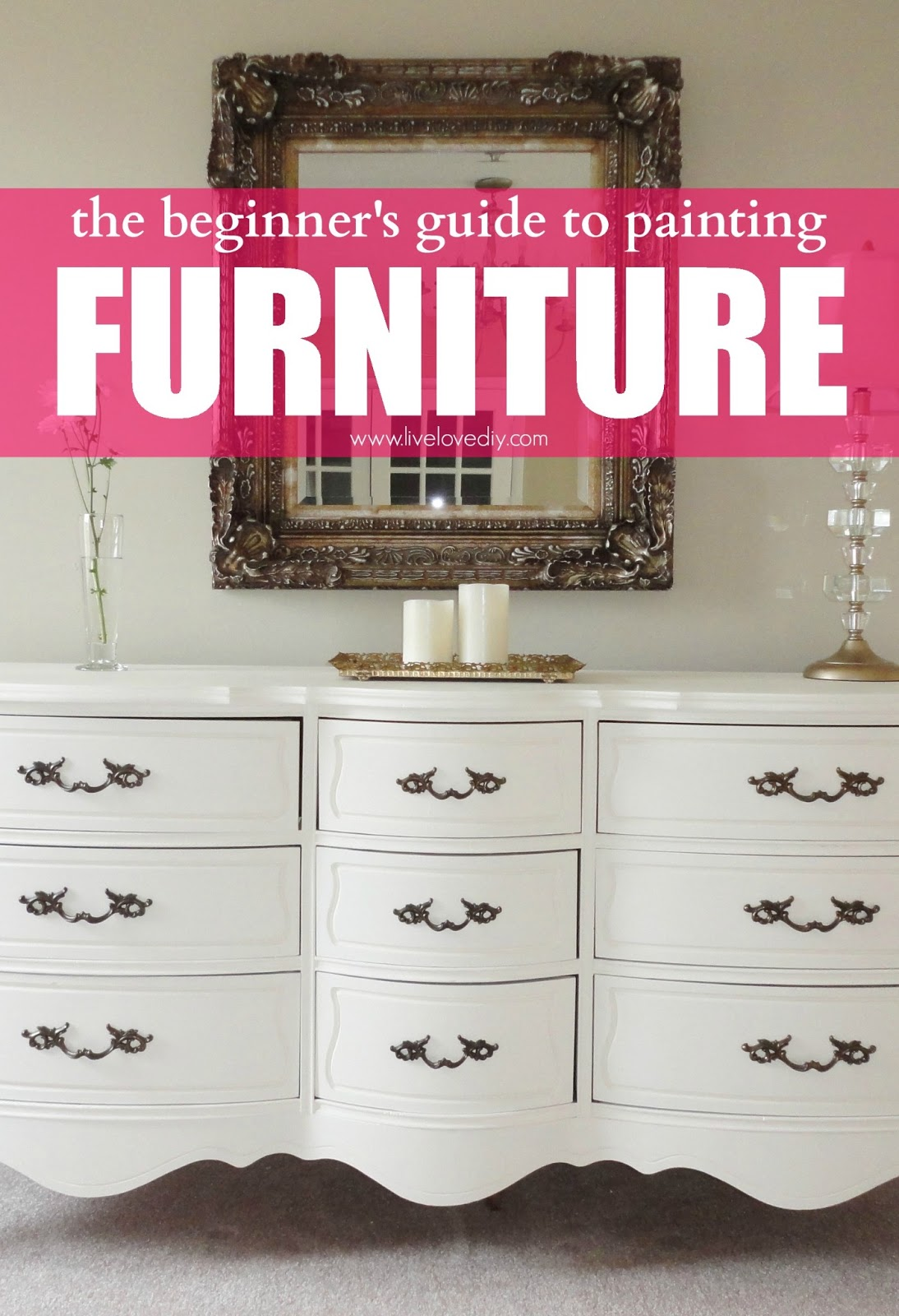 How To Spray Paint Already Painted Furniture