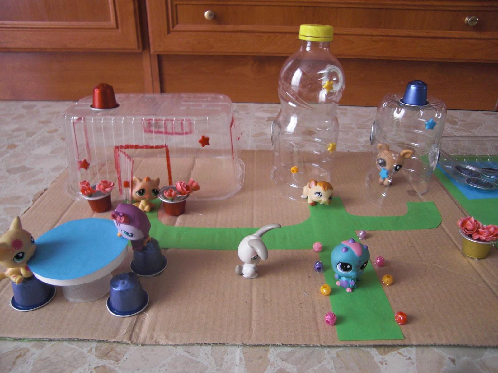 Pintarinas creando juguetes con botellas de plastico for Juguetes de plastico