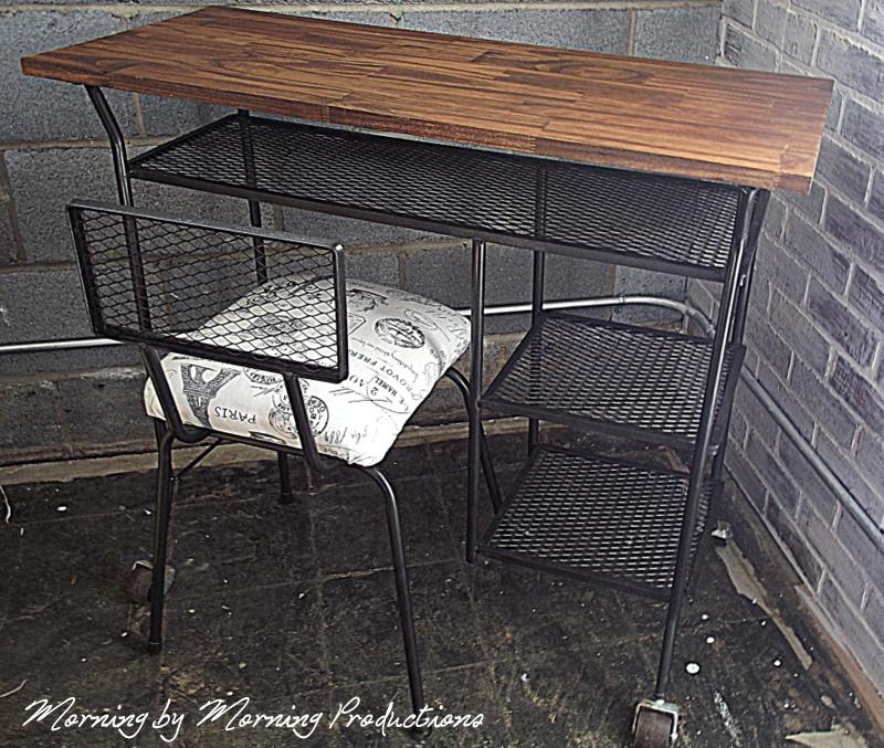 industrial style desk makeover
