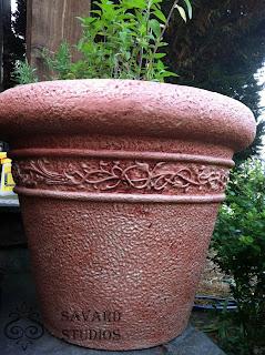 painted foam planters, silk soft paint
