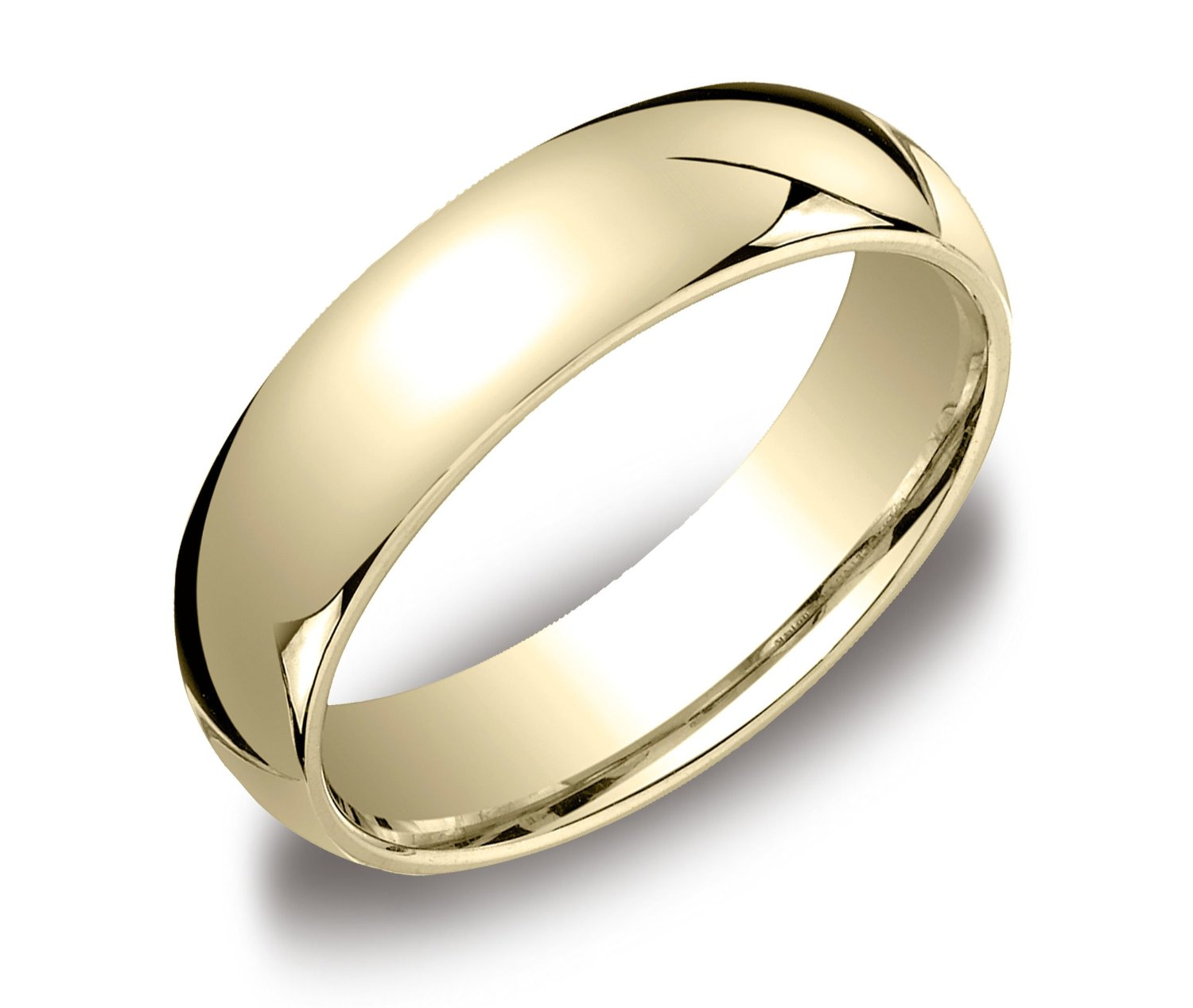 Comfort Fit Mens 14k Gold Wedding Band