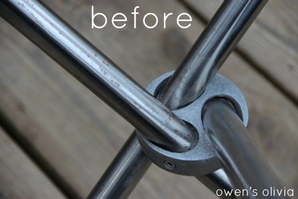 Owen S Olivia How To Remove Rust From Metal A Ridiculously Easy Tutorial - How To Clean Rusty Metal Table Legs