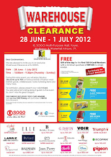 Sogo Warehouse Clearance 2012