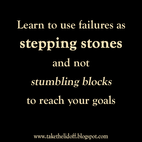 essay about failure stepping stone of success Most people fear failure, but failure does not prevent success actually, failure  can lead to success as long we learn from it failure is one of the.
