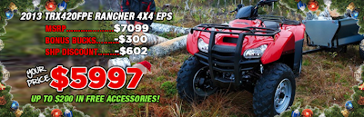 2013 TRX420FPE RANCHER. SOUTHERN HONDA POWERSPORTS. CHATTANOOGA TN.