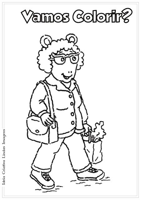 Dia dos Avós para colorir - Arthur