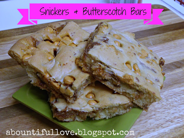 Snickers & Butterscotch Bars