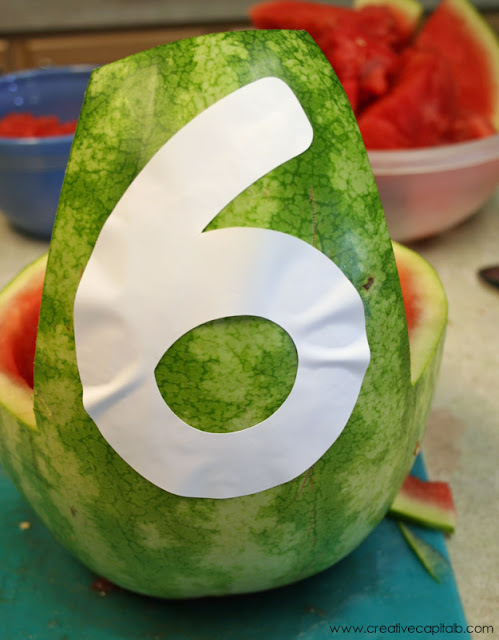 Simple watermelon bowl carving from capital b love and