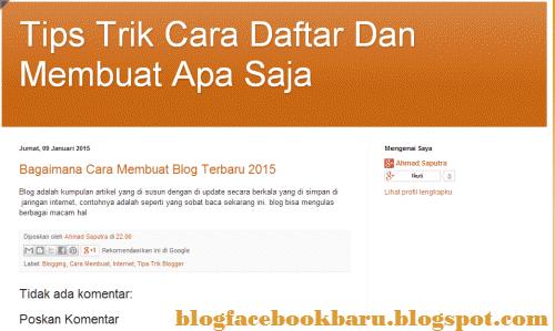 bagaimana membuat blog gratis di internet
