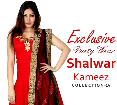 Exclusive Party Wear Shalwar Kameez Collection 2014-2015
