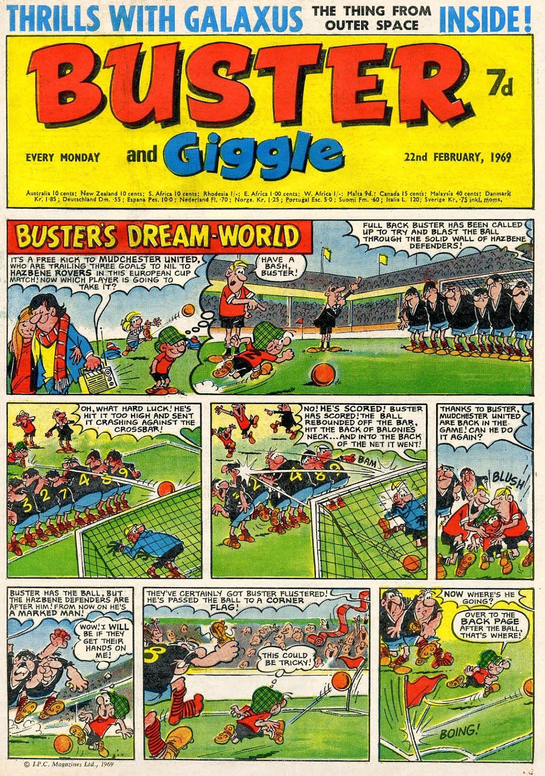 kazoop football theme in british humour comics