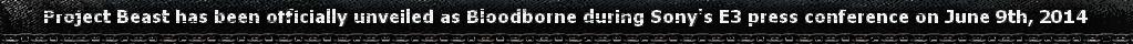 Bloodborne Project Beast