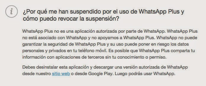 whatsapp suspendido