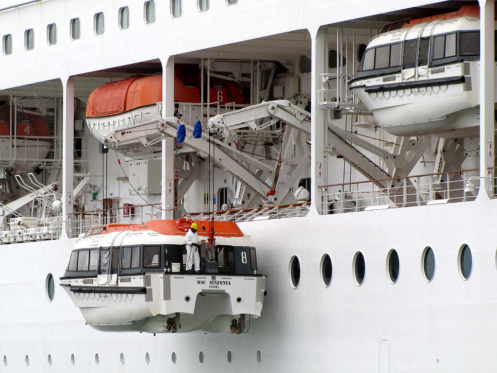 Lifeboats, MSC Sinfonia, Livorno