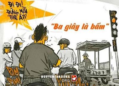Hình ảnh châm biếm về giao thông Việt Nam
