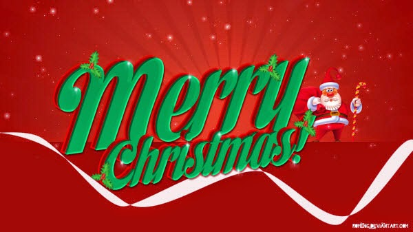 christmas wallpaper for desktop with santa