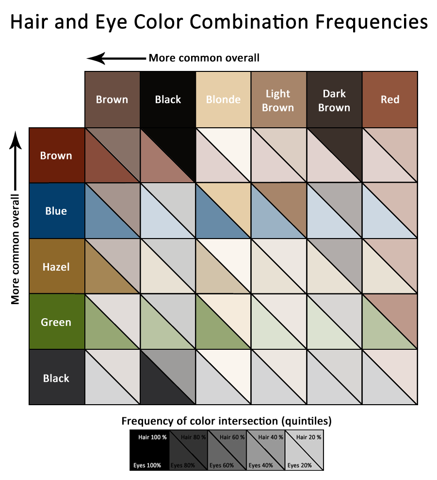 Graphs And Stuff Hair And Eye Color Combination Frequencies