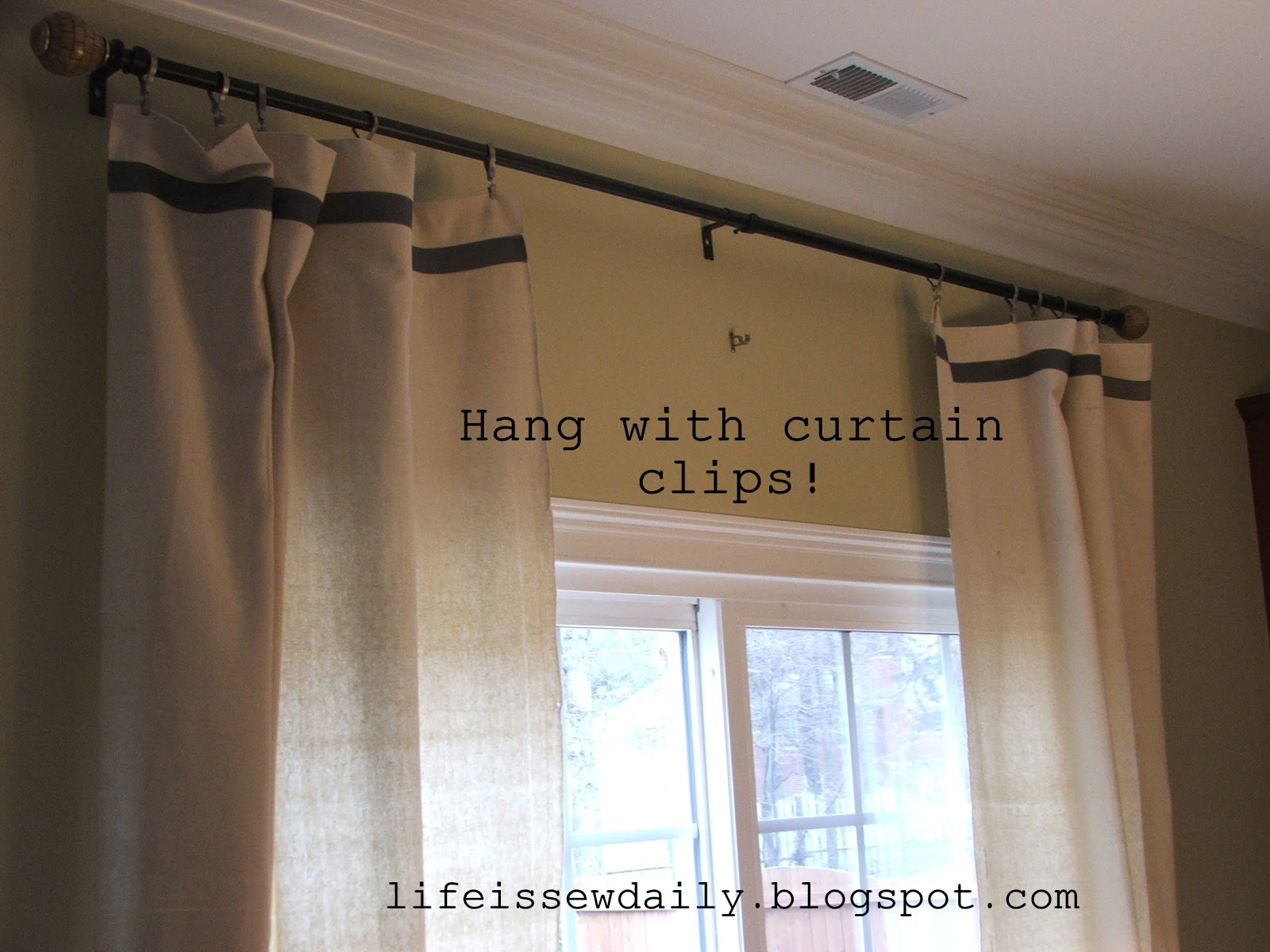 Drop Cloth Curtains Tutorial Life Is Sew Daily No Sew 30 Minute Dropcloth Curtains Tutorial