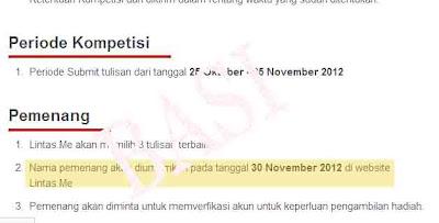 Pemenang Nge-blog lintas.me AksiIndonesiaKu