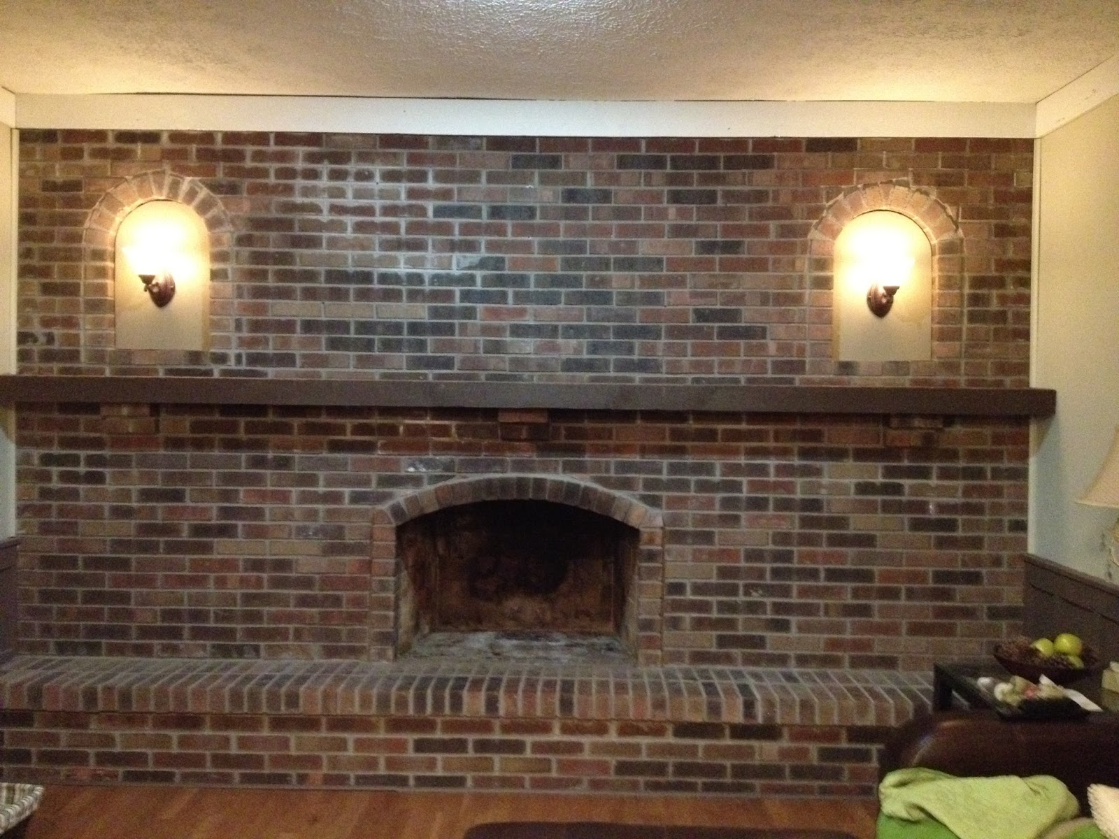 1970s fireplace makeover
