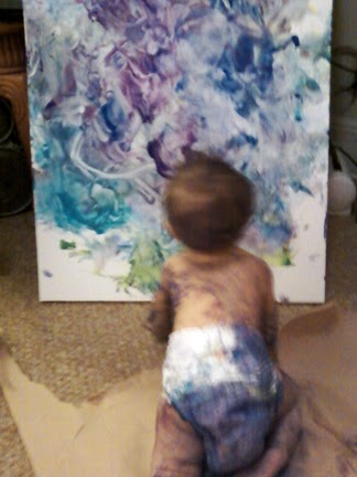 Baby Finger Painting